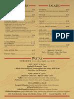 Numero Uno Pizza Pasadena Menu