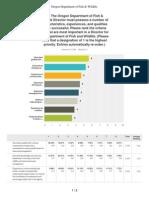 ODFW Director Recruitment Survey 11-17-14