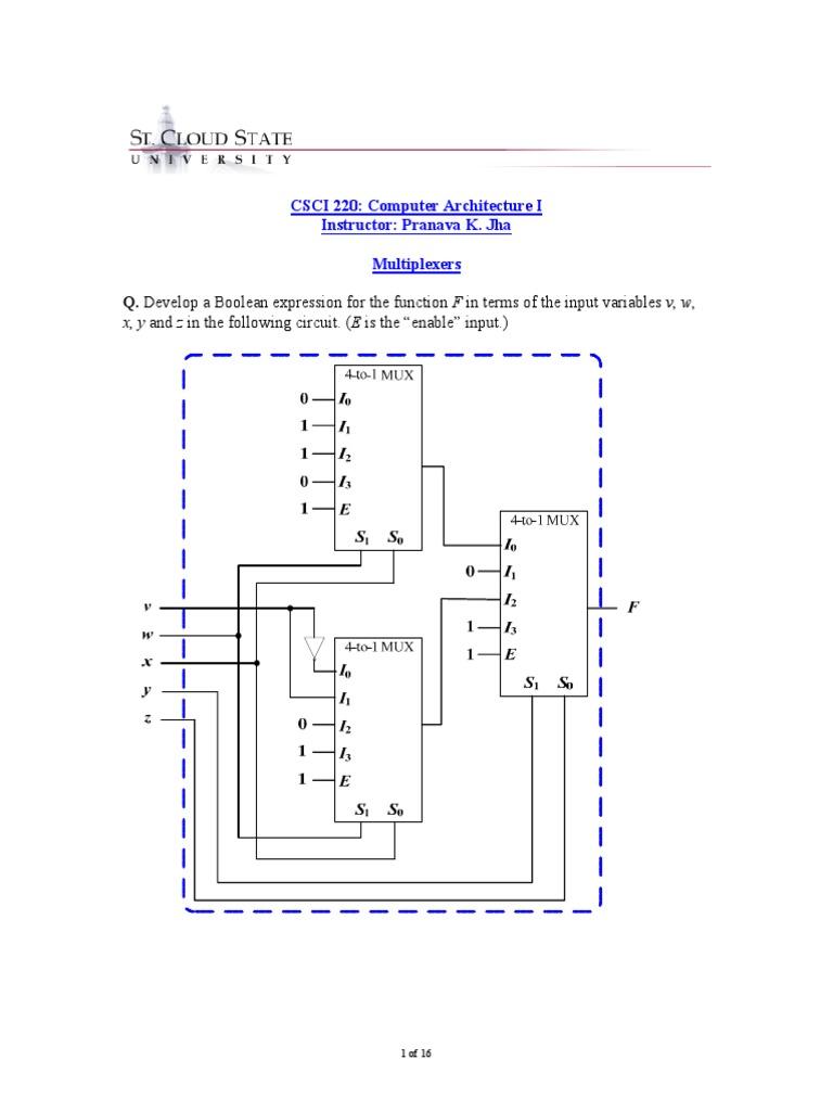 Multiplexers Logic Digital Electronics Diagram Mux