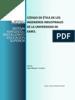 Código de Ética de los Ingenieros Industriales de la Universidad del SABES