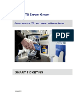 2013 Urban Itsss Expert Group Guidelines on Smart Ticketing