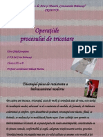 Operaţiile Procesului de Tricotare