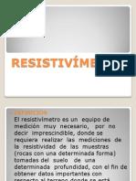 RESISTIVÍMETRO