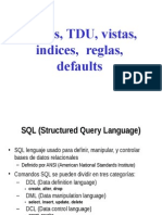 SQL tablas indices