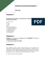 Ejercicios Propuestos Macroeconomia Prueba N_1 2014