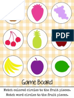 Fruit Pieces Game Board