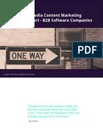 2014 Social Media Content Marketing Industry Report - B2B Software Companies