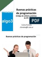 Buenas Prácticas de Programación ( Código de Calidad y EXtreme Programming XP)
