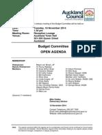 Budget Committee Agenda - November 14