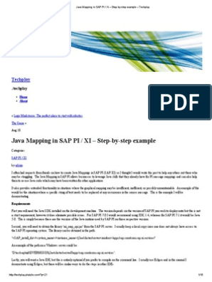 Java Mapping in SAP PI _ XI – Step-By-step Example