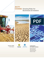 Water Scarcity & Climate ∆ - Investors