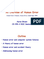An Introduction to Human Error