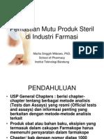 Pemastian Mutu Produk Steril di Industri Farmasi.pdf