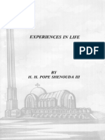 Experiences in Life - H.H. Pope Shenouda III