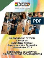 Codificación de Asientos Electorales por Departamentos