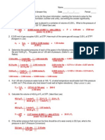 Gas Laws Worksheet III Answer Key 11-12