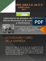 Presentacion Jaba. 2012