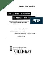 Uexküll - Incursões pelos mundos animais e humanos (trechos, inglês)