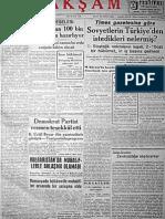 1946-1950 Önemli Gazete Manşetleri