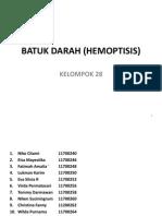 Batuk Darah (Hemoptisis)