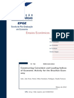 constructing Coincident and Leading Indeces of Economic Activity for the Brazilian Economy