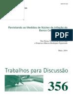 Revisitando as Medidas de Nucleo de Inflacao Do BCB