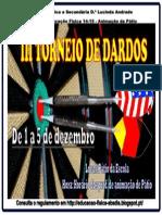 Cartaz do III Torneio de Dardos