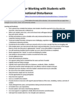 strategies for working with students with emotional disturbance