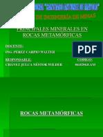 Principales Minerales en Rocas Met.