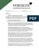 Crave Health Concierge Nutrition Services Membership Agreement