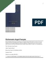 Dictionnaire Argot
