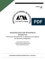 Obtencion de imagenes de resonancia magnética