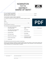 District Award of Merit