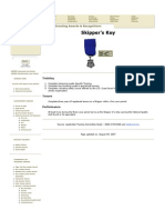 Sea Scout Skipper's Key