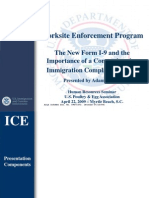 ICE PowerPoint Presentation - Worksite Enforcement Program (4/22/09)