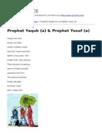 Prophet Yaqub (a) &Amp_ Prophet Yusuf (a)