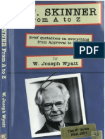 B. F. Skinner From a to Z - W. Joseph Wyatt (INDEX)