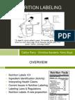 nutrition labeling presentation