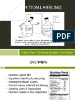 nutrition labeling presentation
