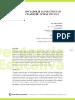 La Inserción Laboral de Pdc Intelectual en Chile
