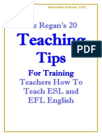 Liz Regan's 20 Teaching Tips for Training Teachers How to Teach ESL and EFL English
