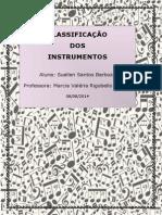 Classificação Dos Instrumentos