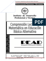 Comprensión Lectora y Matemática en Educación Básica Alternativa
