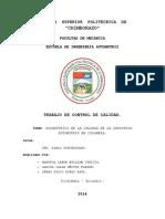 Diagnostico de La Calidad en La Industria Automotriz Colombiana