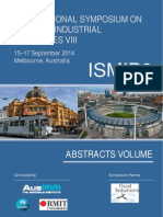Inter Symposium on Mixing in Industrial Processes VIII - Sept 2014 - Australia