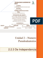 Unidad 2 – Numero Pseudoaleatorios 2.2.3, De Independencia