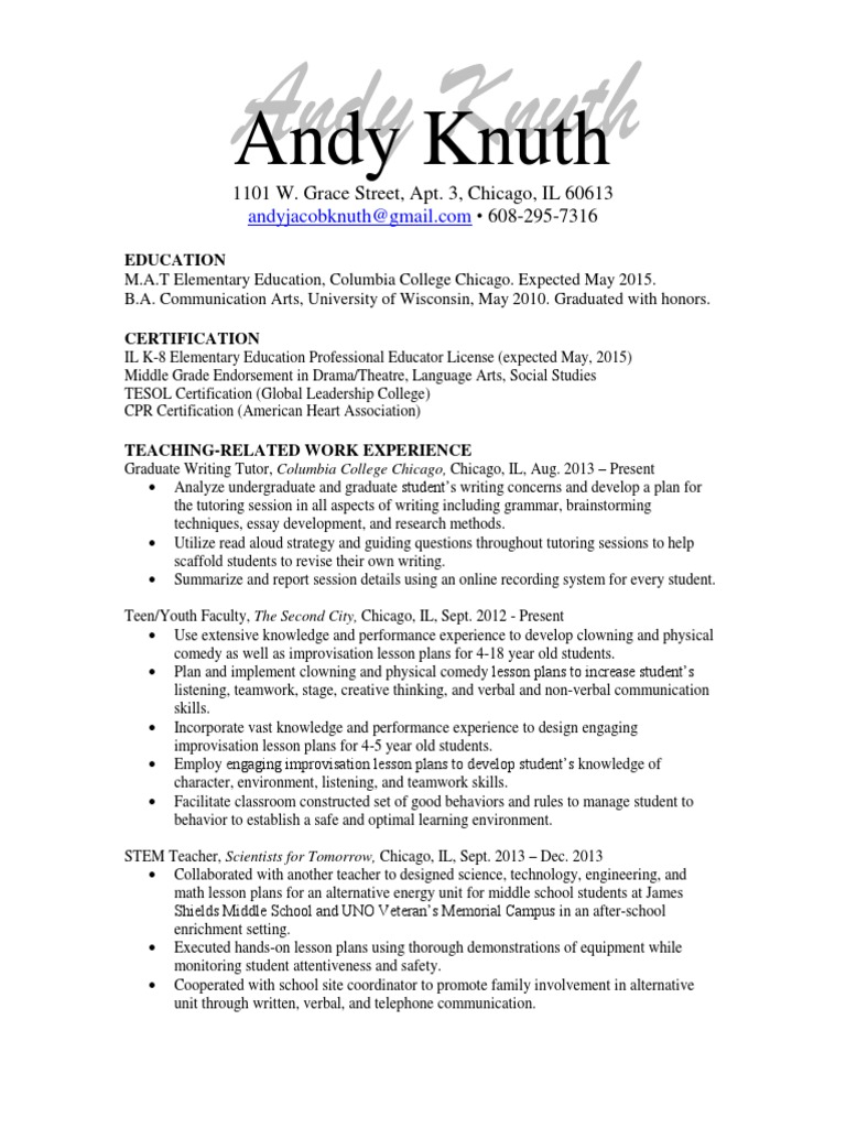 Work resume copy lesson plan tutor 1betcityfo Gallery