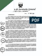 RESOLUCIÓN DE SECRETARÍA GENERAL N° 2074-2014-MINEDU