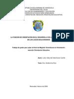 La Función de Orientación en El Desarrollo de Los Doc Guias