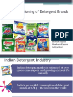 Market Positioning of Detergent Brands